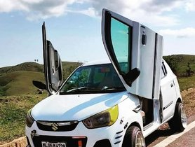 Here's a Maruti Alto K10 with Lamborghini Doors - Wait, What!!