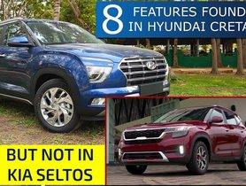 8 Features of 2020 Hyundai Creta NOT AVAILABLE on Kia Seltos