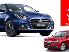 Maruti Dzire 3 Times More Popular Than Honda Amaze in FY2020