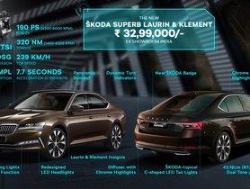 2020 Skoda Superb Facelift Launched At Rs 30 lakh