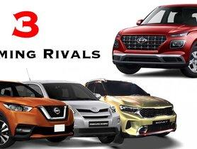 Kia Sonet to Toyota Urban Cruiser - 3 Upcoming Hyundai Venue Rivals in 2020