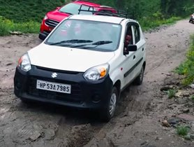 Maruti Alto EFFORTLESSLY Beats Ford EcoSport On Slippery Road