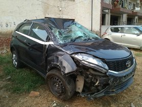 Old Tata Nexon (4-star NCAP) Saves Its Driver's Life In A MASSIVE Mishap