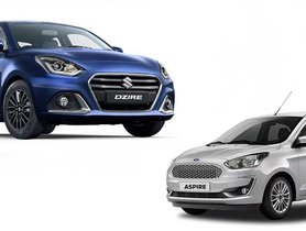 Maruti Dzire 30 TIMES More Popular Than Ford Aspire