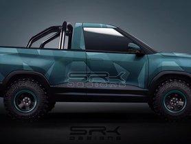 Tata Sierra EV Pickup Concept Digitally Rendered