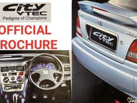 First-gen Honda City VTEC Brochure Invokes Nostalgia