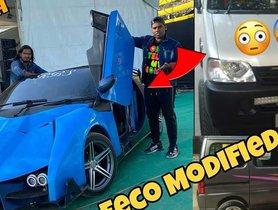 BAREBONES Maruti Eeco Modified Into a Lamborghini