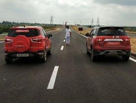 Maruti Vitara Brezza vs Ford Ecosport In a Drag Race - SHOCKING RESULTS! [Video]