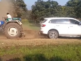 Ford Endeavour vs Swaraj 744 Tractor – Who Wins?