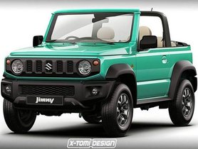 Suzuki Jimny (Next Maruti Gypsy) Rendered As A Soft-Top Convertible