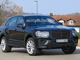 2021 Bentley Bentayga Facelift Spotted On Test, Borrows Design Cues From Flying Spur