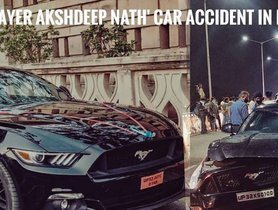 Indian Under-19 Cricket Team Captain's Ford Mustang Hits 2 Cars On Flyover