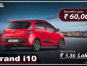 Hyundai Grand i10 Available With Discounts of Rs. 60,000