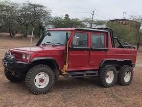 Modified Mahindra Bolero 6X6 Looks Gothic, Gets Engine From Scoprio