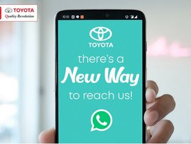 Toyota Launches Whatsapp Service And Flexible EMI Options