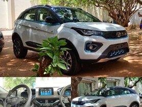 First-ever Real Life Images of Glacier White Tata Nexon EV Surface Internet