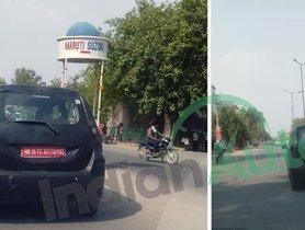 Maruti WagonR EV Resumes Testing, Spied In Manesar