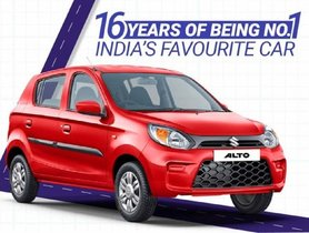 Maruti Alto Is The Best-Selling Compact Car Of India For 16 Consecutive Years