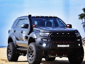 Modified Ford Endeavour Looks Villainously-beautiful With Massive Wheels & Ranger's Bodykit