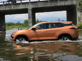 Tata Harrier Shows off Excellent Water-wading Capabilities but What's Wrong?
