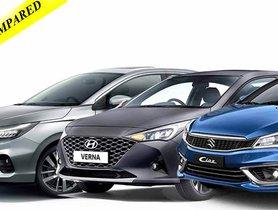 All-new Honda City vs Hyundai Verna vs Maruti Ciaz - Fuel Mileage Compared