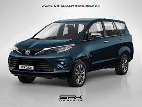 Upcoming Toyota Innova Facelift Rendered