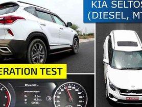 Kia Seltos 1.5 Diesel MT 0-100 kmph Acceleration Video - QUICKER than New Hyundai Creta!