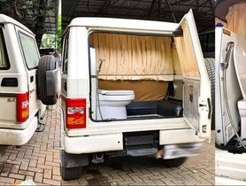 Modified Mahindra Bolero with Built-in Toilet: Perfect for a Long Trip?