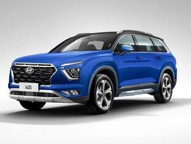 Hyundai Alcazar (Creta 7-seater) Digitally Rendered