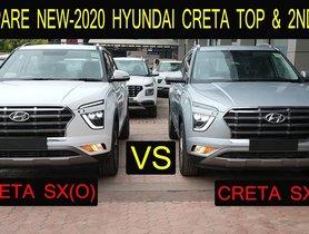 2020 Hyundai Creta SX Vs SX(O) - Which One's A Better Deal?