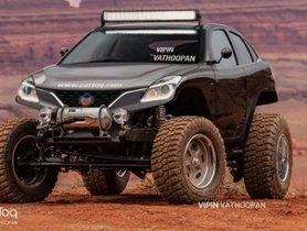 Maruti Baleno Digitally Reimagined As A Monster Truck