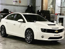 This Chevy Camaro is a Modified Cruze with 20-inch wheels