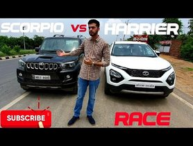 Tata Harrier & Mahindra Scorpio In A Drag Race, Who Wins?