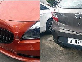 Rs 80 lakh BMW Z4 Rear Ends Rs 5 Lakh Tata Tiago, Shocking Results