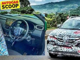 Interior of Renault's Upcoming Hyundai Venue Rival Spied For First Time Ever