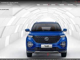 MG Hector Plus Listed On Company's Official Website