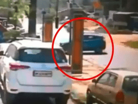 Tata Nexon Crash Caught On CCTV Camera
