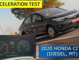 2020 Honda City Diesel MT 0-100 kmph Acceleration Test