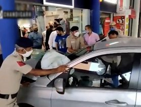 Out-of-control Tata Tiago Crashes Into A Showroom in Chandigarh, All Safe [VIDEO]