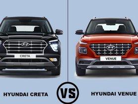 2020 Hyundai Creta vs Hyundai Venue – Which SUV Is Better To Buy?