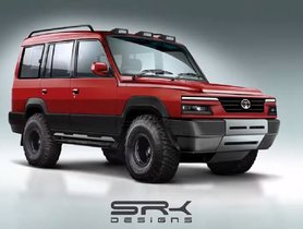2020 Tata Sumo With Harrier-like Face Rendered