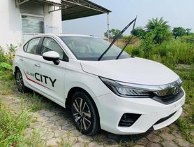 2020 Honda City Test Spotted at a Dealer's Stockyard Ahead of Launch
