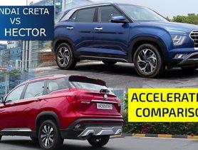 MG Hector Vs Hyundai Creta, Who's Faster To 100 KMPH?