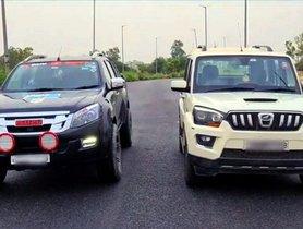 Isuzu D-Max V-Cross VS Mahindra Scorpio In A Drag Race