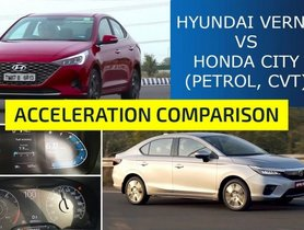 New-Gen Honda City VS Hyundai Verna Facelift 0-100 Kmph Acceleration Test