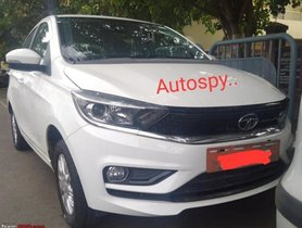 Tata Tigor EV Facelift Spotted Without Camouflage