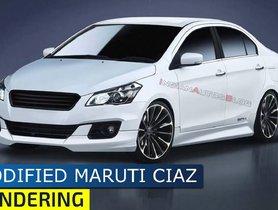 Pre-facelift Maruti Ciaz Modified To Look Flamboyant [VIDEO]