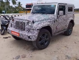 New-Gen Mahindra Thar Petrol Trim Snapped While Testing