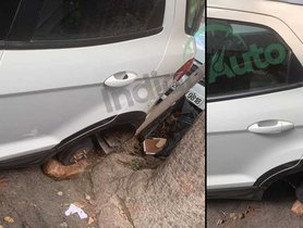 Thieves Make Away with Alloy Wheels of Ford EcoSport Parked Overnight in Delhi