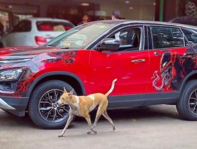Bespoke Tata Harrier with Deadpool and Venom Wrap